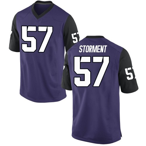 Men's Nike T.J. Storment TCU Horned Frogs Game Purple Football College Jersey