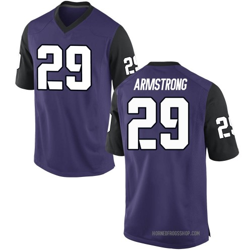 Men's Nike Thomas Armstrong TCU Horned Frogs Game Purple Football College Jersey