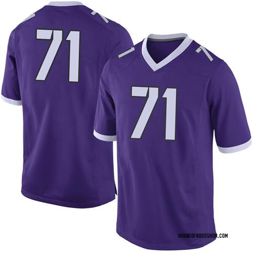 Men's Nike Toby Lettman TCU Horned Frogs Limited Purple Football College Jersey