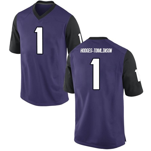Men's Nike Tre'Vius Hodges-Tomlinson TCU Horned Frogs Game Purple Football College Jersey