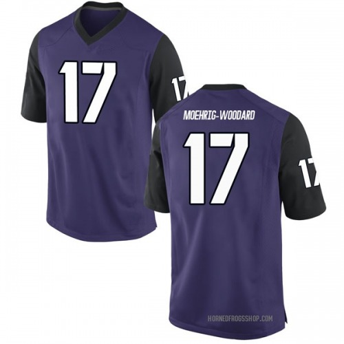 Men's Nike Trevon Moehrig-Woodard TCU Horned Frogs Game Purple Football College Jersey