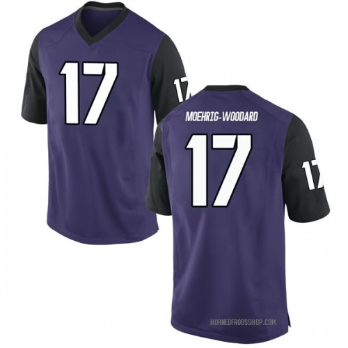 Men's Nike Trevon Moehrig-Woodard TCU Horned Frogs Replica Purple Football College Jersey