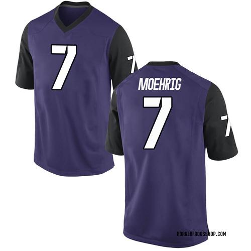 Men's Nike Trevon Moehrig-Woodard TCU Horned Frogs Replica Purple Football College Jersey