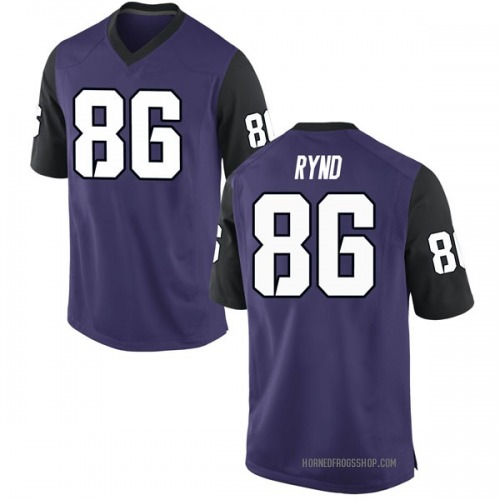 Men's Nike Walker Rynd TCU Horned Frogs Game Purple Football College Jersey