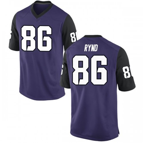Men's Nike Walker Rynd TCU Horned Frogs Replica Purple Football College Jersey