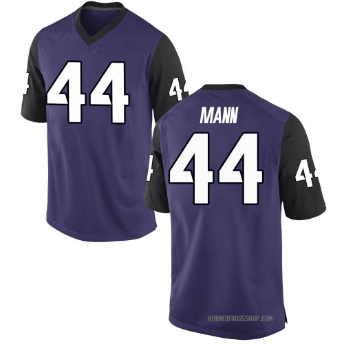 Men's Nike William Mann TCU Horned Frogs Game Purple Football College Jersey