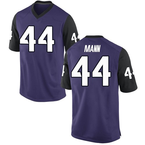 Men's Nike William Mann TCU Horned Frogs Replica Purple Football College Jersey