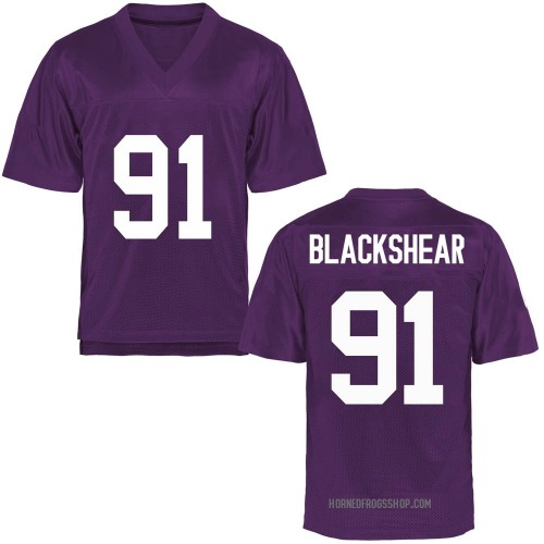 Men's Shameik Blackshear TCU Horned Frogs Game Purple Football College Jersey