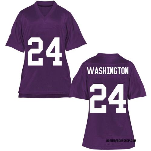 Women's Ar'Darius Washington TCU Horned Frogs Game Purple Football College Jersey
