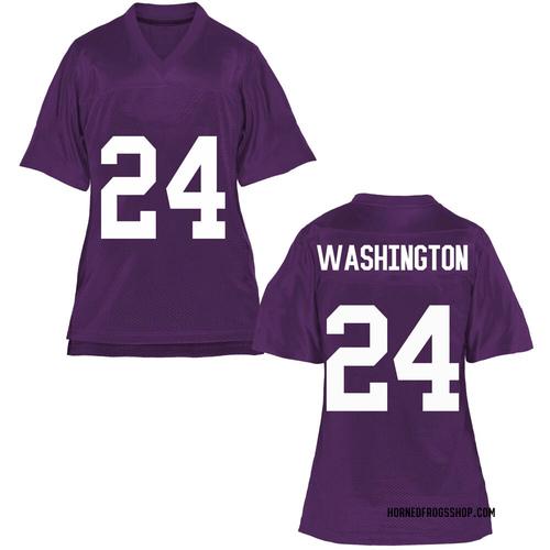 Women's Ar'Darius Washington TCU Horned Frogs Replica Purple Football College Jersey