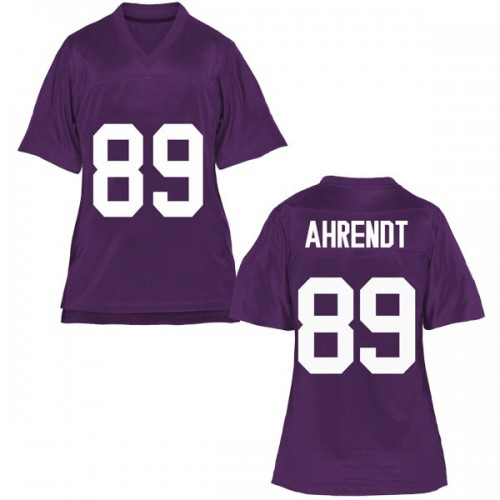 Women's Austin Ahrendt TCU Horned Frogs Replica Purple Football College Jersey
