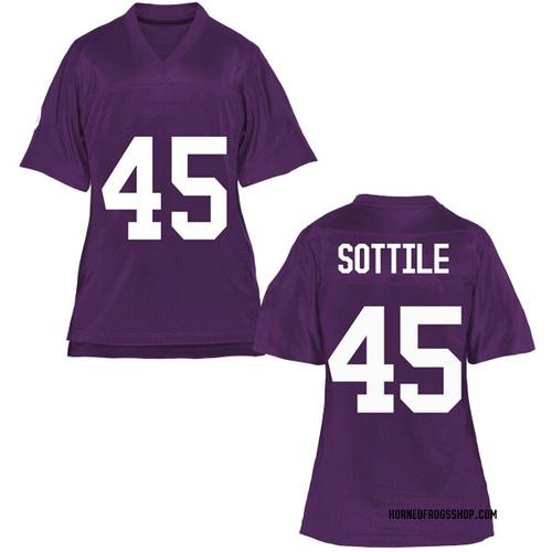 Women's Austin Sottile TCU Horned Frogs Game Purple Football College Jersey