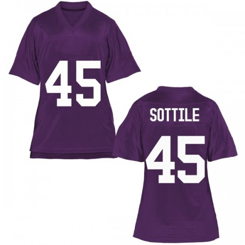 Women's Austin Sottile TCU Horned Frogs Replica Purple Football College Jersey