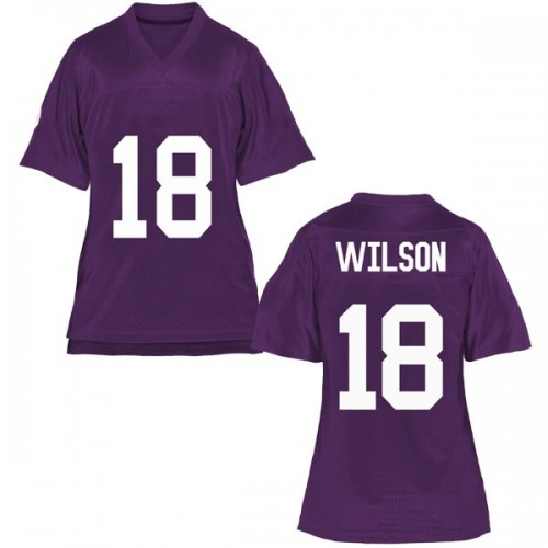 Women's Ben Wilson TCU Horned Frogs Game Purple Football College Jersey
