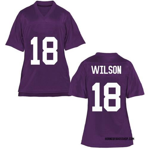 Women's Ben Wilson TCU Horned Frogs Replica Purple Football College Jersey