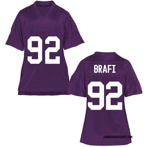Women's Benedict Brafi TCU Horned Frogs Game Purple Football College Jersey