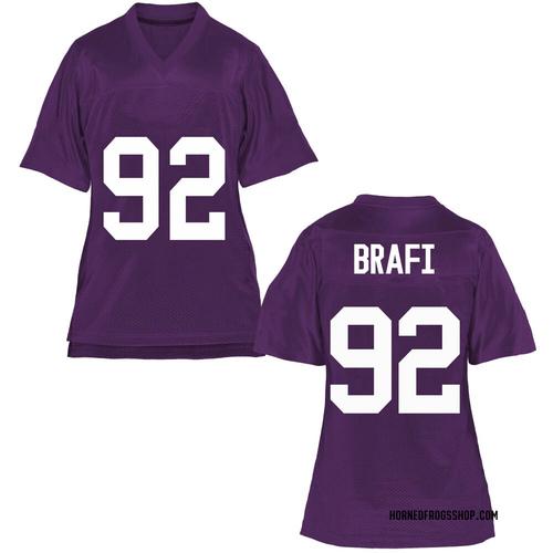 Women's Benedict Brafi TCU Horned Frogs Replica Purple Football College Jersey