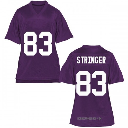 Women's Brady Stringer TCU Horned Frogs Replica Purple Football College Jersey