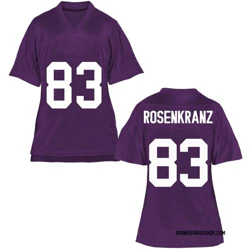 Women's Cade Rosenkranz TCU Horned Frogs Replica Purple Football College Jersey
