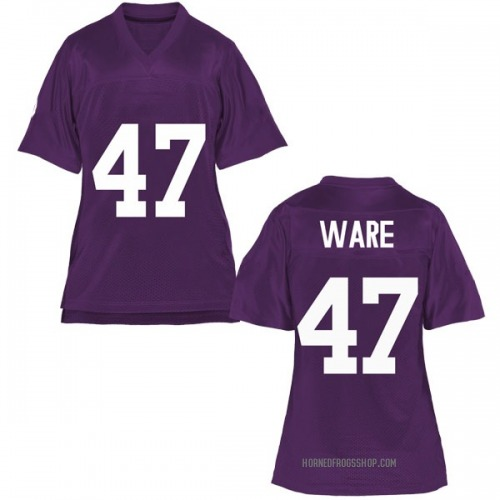 Women's Carter Ware TCU Horned Frogs Game Purple Football College Jersey