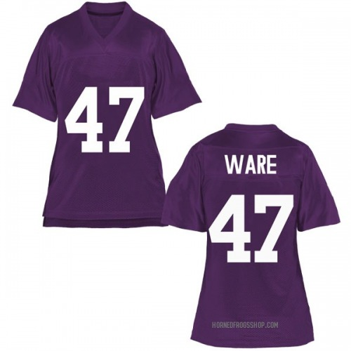 Women's Carter Ware TCU Horned Frogs Replica Purple Football College Jersey