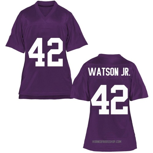 Women's Carvin Watson TCU Horned Frogs Game Purple Football College Jersey