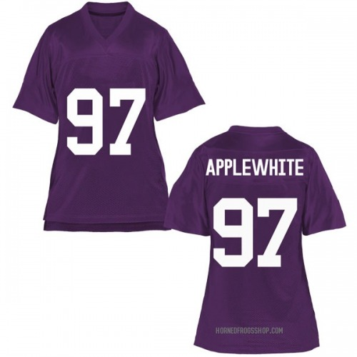 Women's Christian Applewhite TCU Horned Frogs Replica Purple Football College Jersey