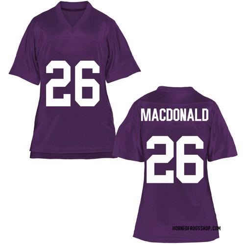 Women's Christian MacDonald TCU Horned Frogs Replica Purple Football College Jersey