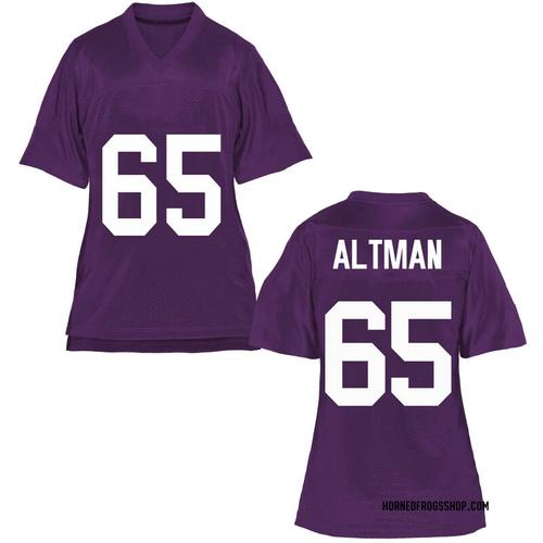 Women's Colson Altman TCU Horned Frogs Replica Purple Football College Jersey