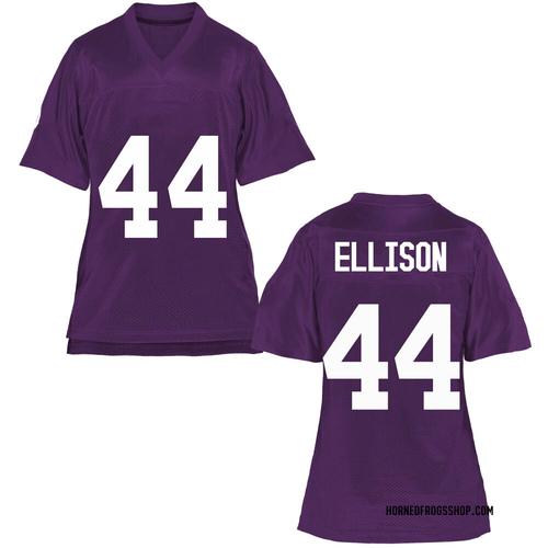 Women's Colt Ellison TCU Horned Frogs Game Purple Football College Jersey