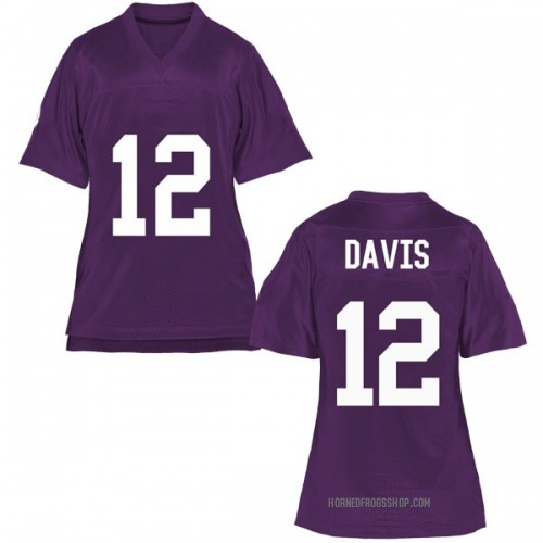 Women's Derius Davis TCU Horned Frogs Game Purple Football College Jersey