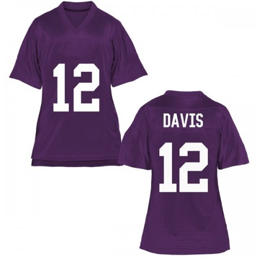 Women's Derius Davis TCU Horned Frogs Replica Purple Football College Jersey