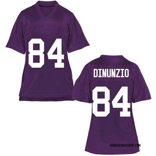 Women's Dominic DiNunzio TCU Horned Frogs Replica Purple Football College Jersey