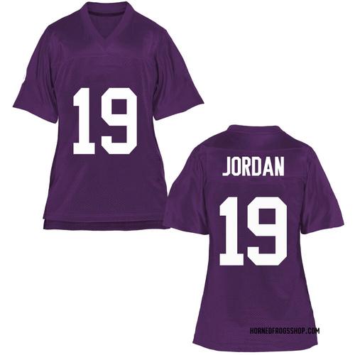 Women's Dylan Jordan TCU Horned Frogs Game Purple Football College Jersey