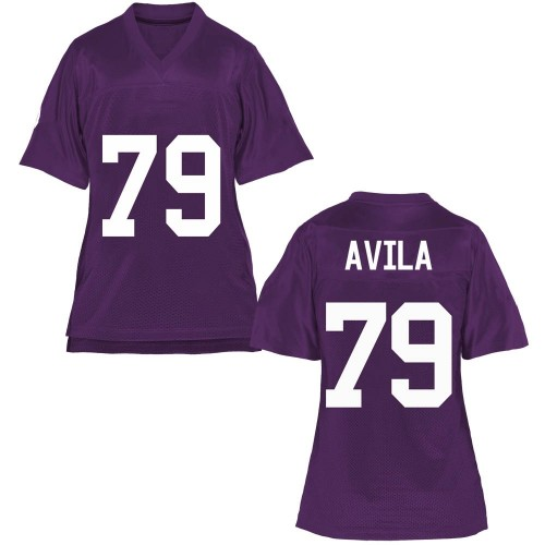 Women's Esteban Avila TCU Horned Frogs Game Purple Football College Jersey