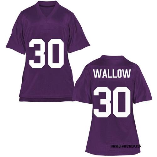 Women's Garret Wallow TCU Horned Frogs Game Purple Football College Jersey