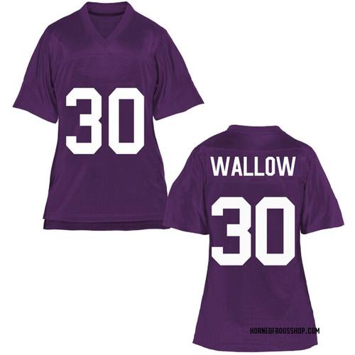 Women's Garret Wallow TCU Horned Frogs Replica Purple Football College Jersey