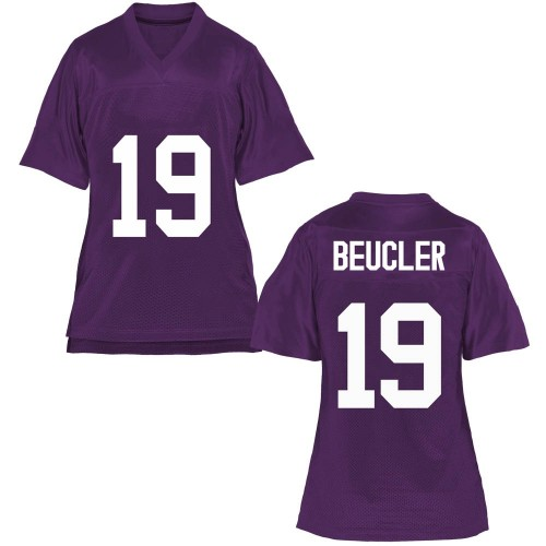 Women's Grant Beucler TCU Horned Frogs Replica Purple Football College Jersey