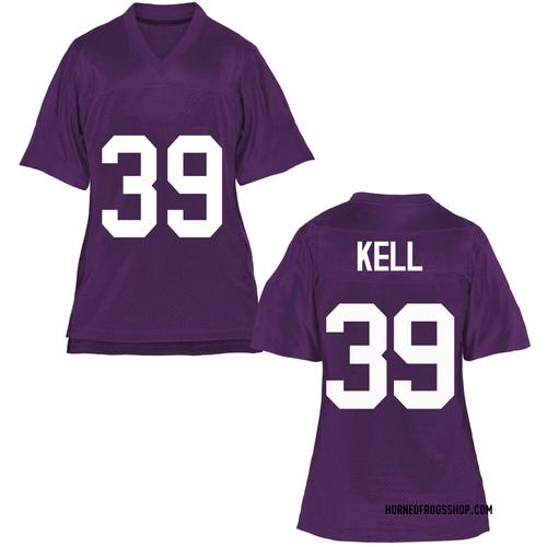 Women's Griffin Kell TCU Horned Frogs Replica Purple Football College Jersey