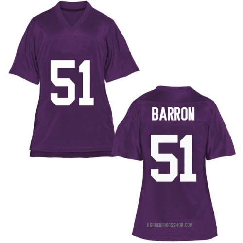 Women's Harrison Barron TCU Horned Frogs Replica Purple Football College Jersey
