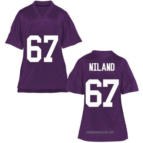 Women's Jack Niland TCU Horned Frogs Game Purple Football College Jersey