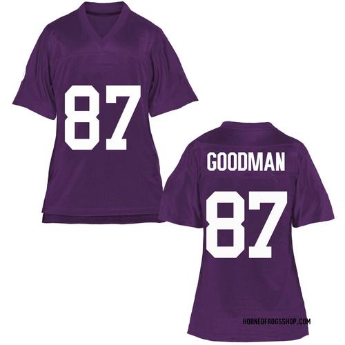 Women's Jake Goodman TCU Horned Frogs Game Purple Football College Jersey