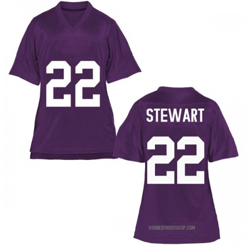 Women's Jarrison Stewart TCU Horned Frogs Replica Purple Football College Jersey