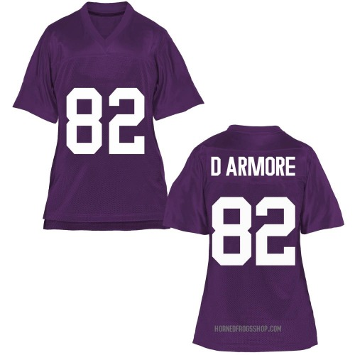 Women's Jason D'Armore TCU Horned Frogs Replica Purple Football College Jersey