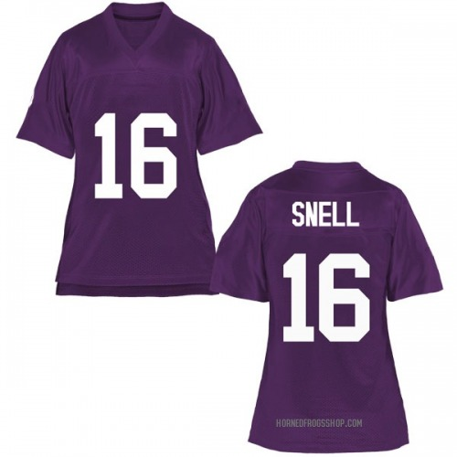 Women's Kenedy Snell TCU Horned Frogs Game Purple Football College Jersey