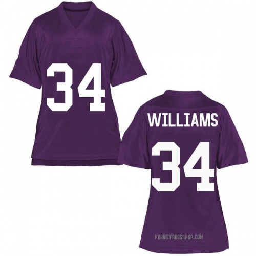 Women's Kenrich Williams TCU Horned Frogs Game Purple Football College Jersey