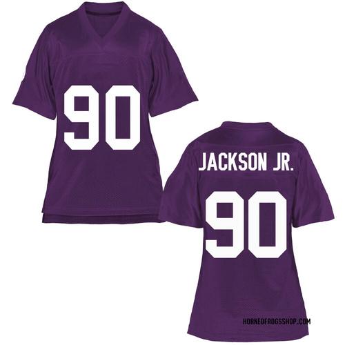 Women's Mark Jackson Jr. TCU Horned Frogs Game Purple Football College Jersey