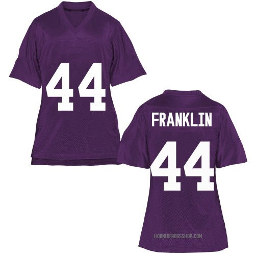 Women's Michael Franklin TCU Horned Frogs Game Purple Football College Jersey