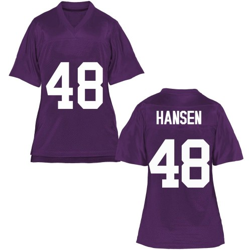 Women's Mitchell Hansen TCU Horned Frogs Replica Purple Football College Jersey