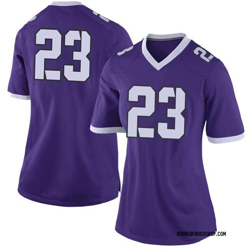 37bf80baa Women s Nike Ahmed Hamdy TCU Horned Frogs Limited Purple Football College  Jersey